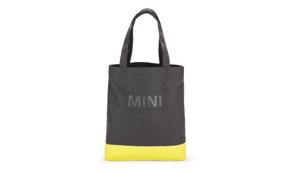 MINI Shopper Colour Block schwarz / gelb - Tasche
