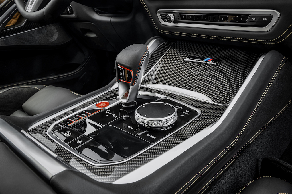 BMW X6 M Interior Details Carbon