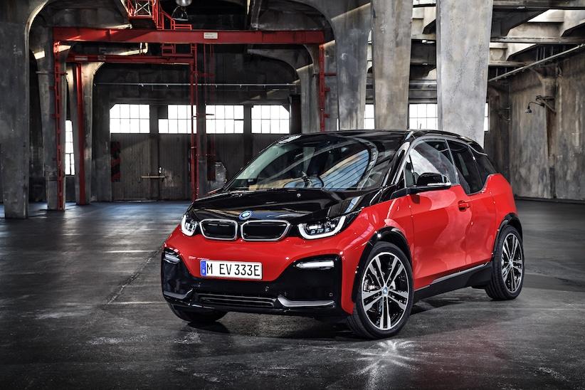 BMW i3s schwarz rot