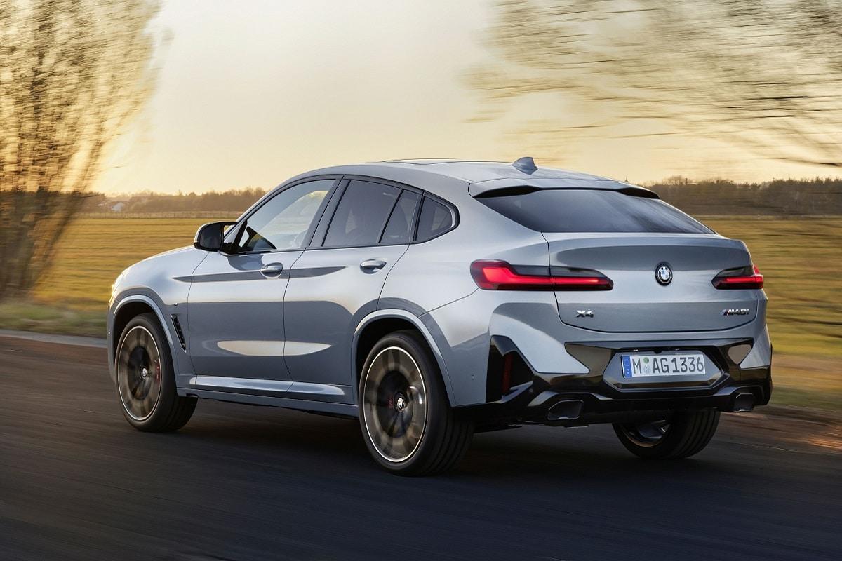 BMW X4M LCI Heck grau