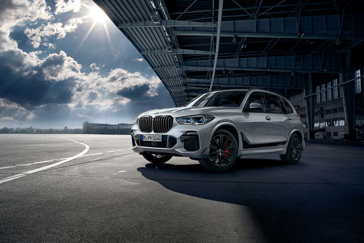 BMW X5 in silber