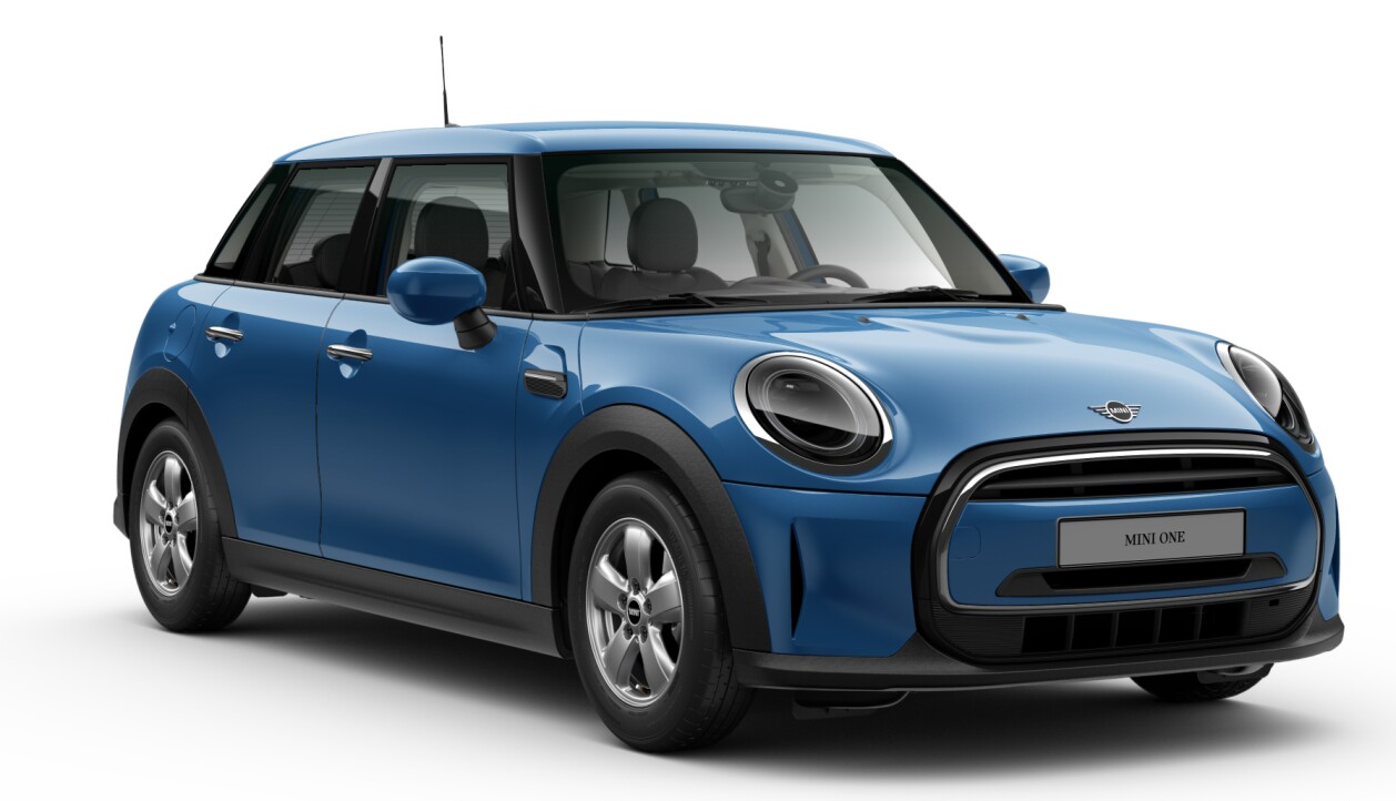 MINI One 5 Tuerer LCI Island Blue