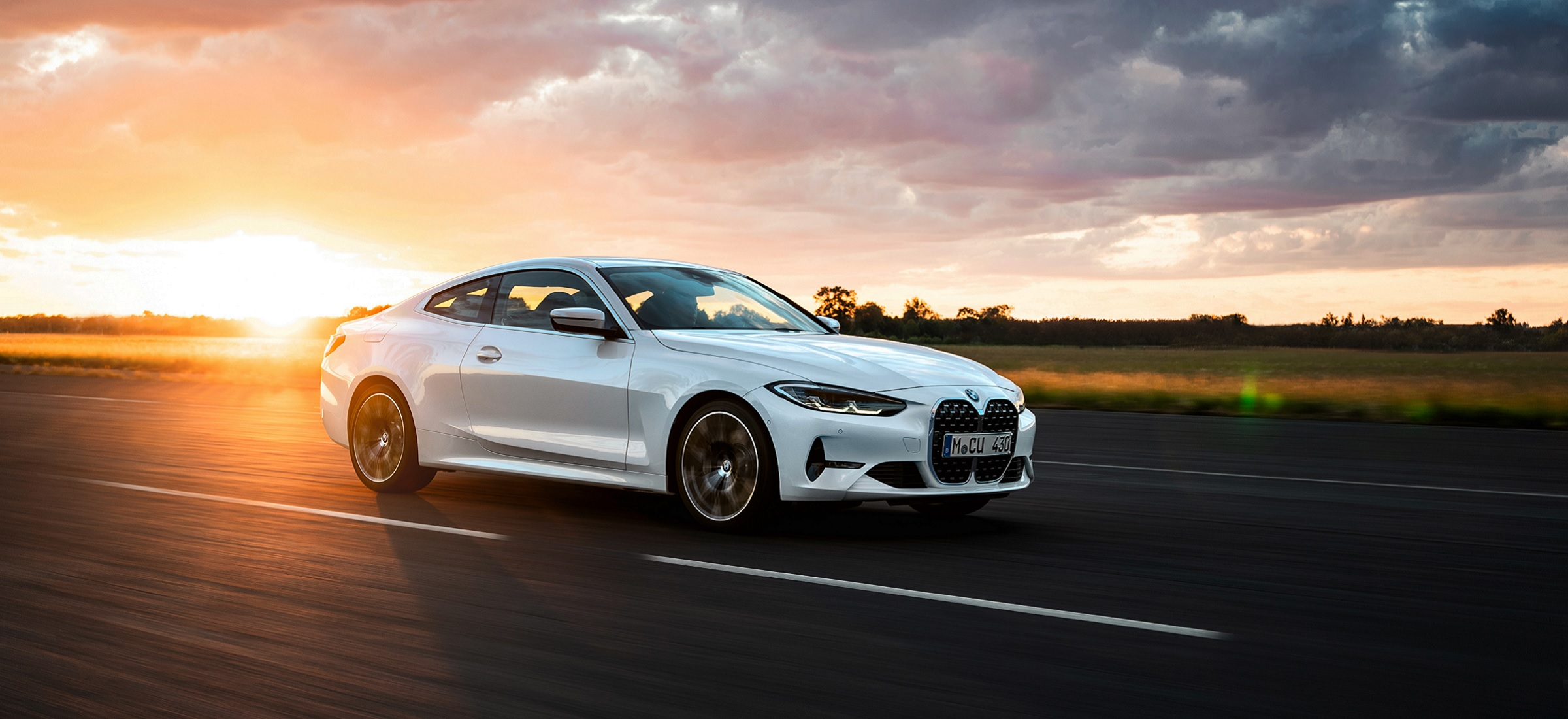 Weißes BMW 4er Coupé 2020
