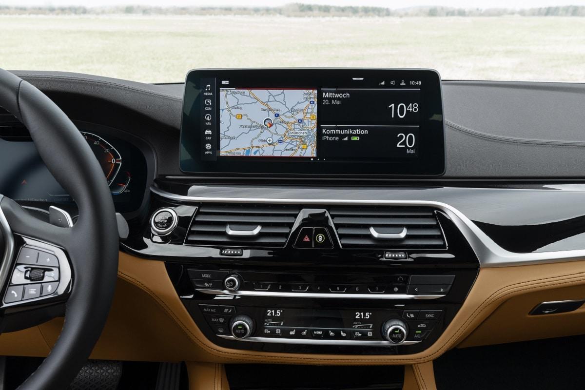Navigation der neuen BMW 5er Limousine