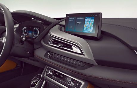 Infotainment im BMW i8 Coupé