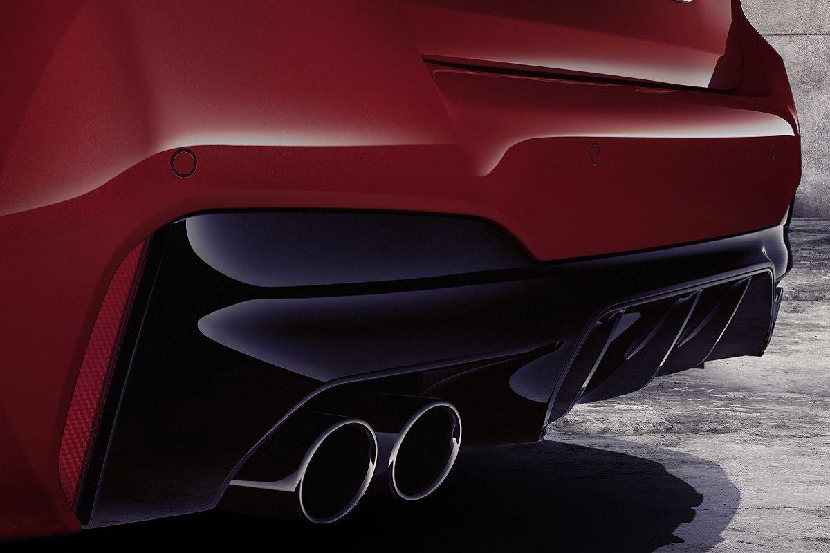 Heck-Details des BMW M5 Competition