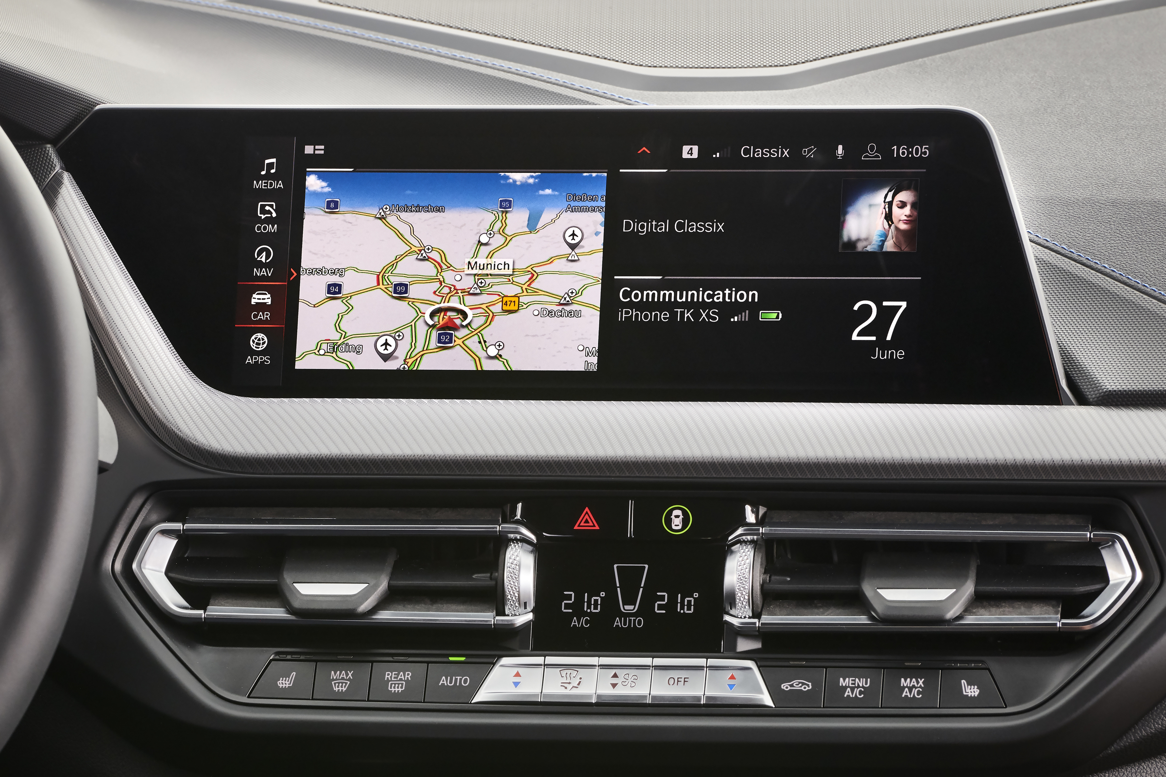 Navigation und Entertainment im BMW M135i