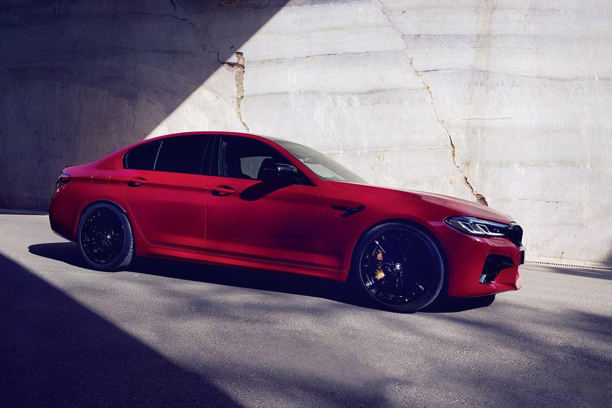 Seitenansicht des BMW M5 Competition
